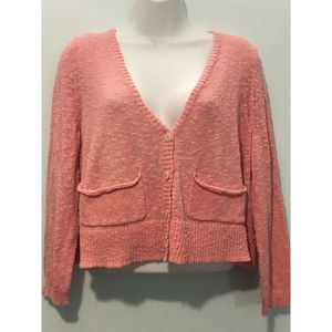 Free People Short Cardigan Sz M Texturized Knit